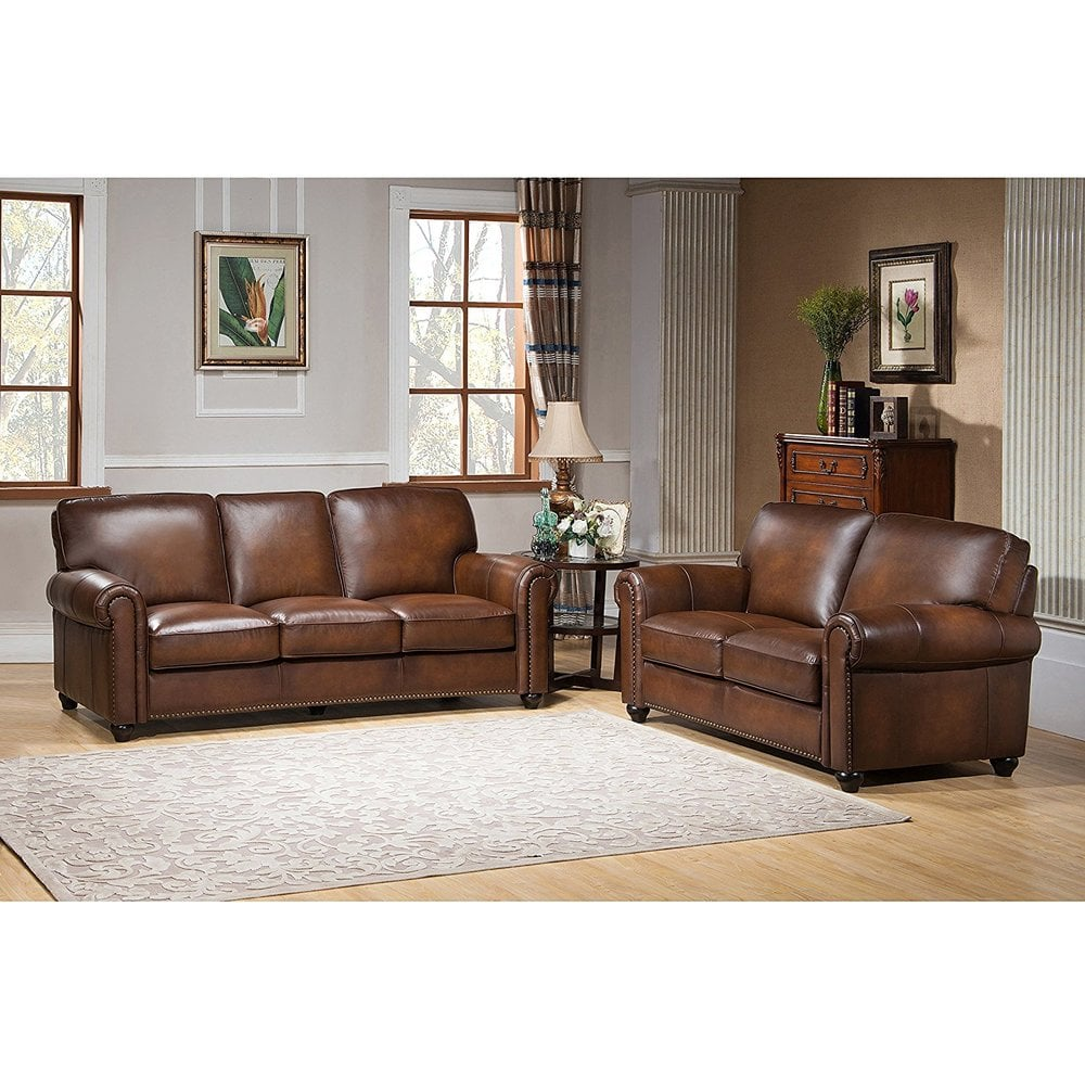 Terrific Builddirect Amax Leather Royale100 Leather Sofa Set Sofa And Loveseat Camel Brown Creativecarmelina Interior Chair Design Creativecarmelinacom