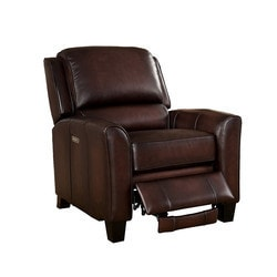 Amax Leather Oxford 100% Leather Power Recliner, Brown