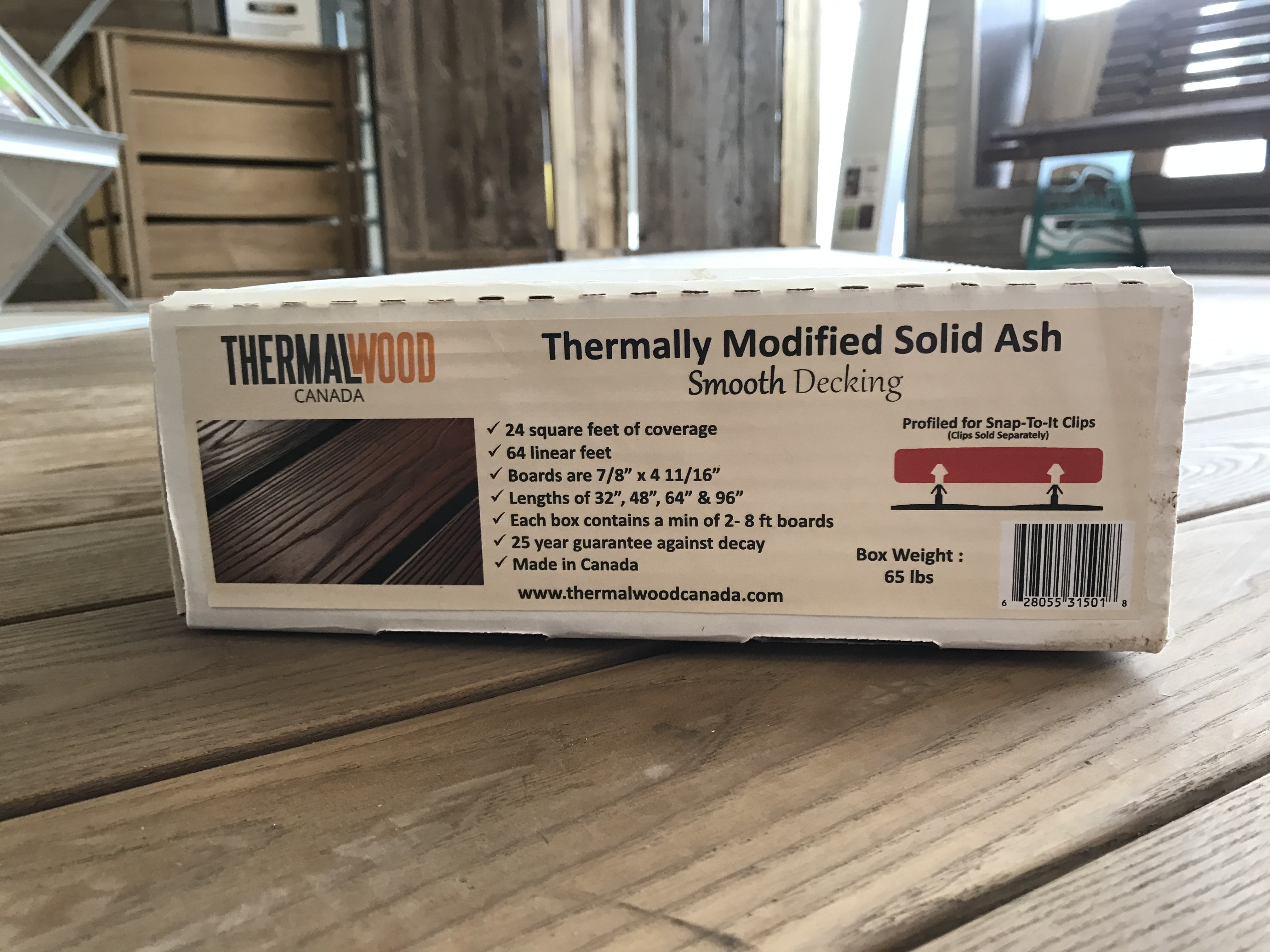 Snap To It decking Thermally Modified Ash Snap To It Decking in a