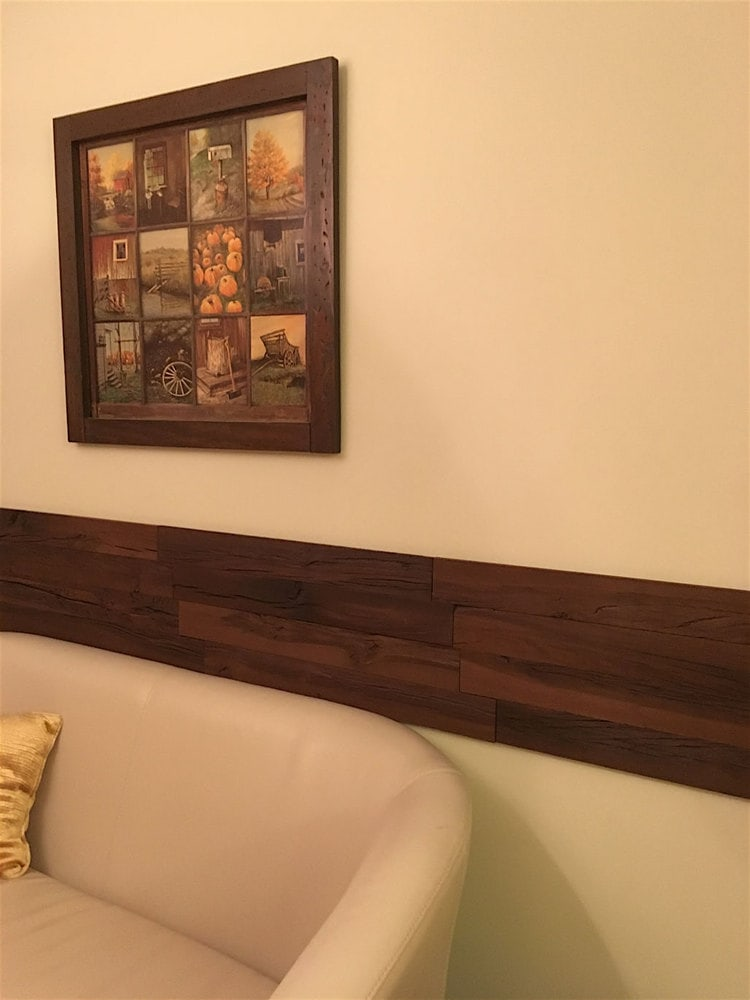 "Holey Wood 3D Holey Wood ""50"" Style Wall Planks in Brown Color (10 ..."