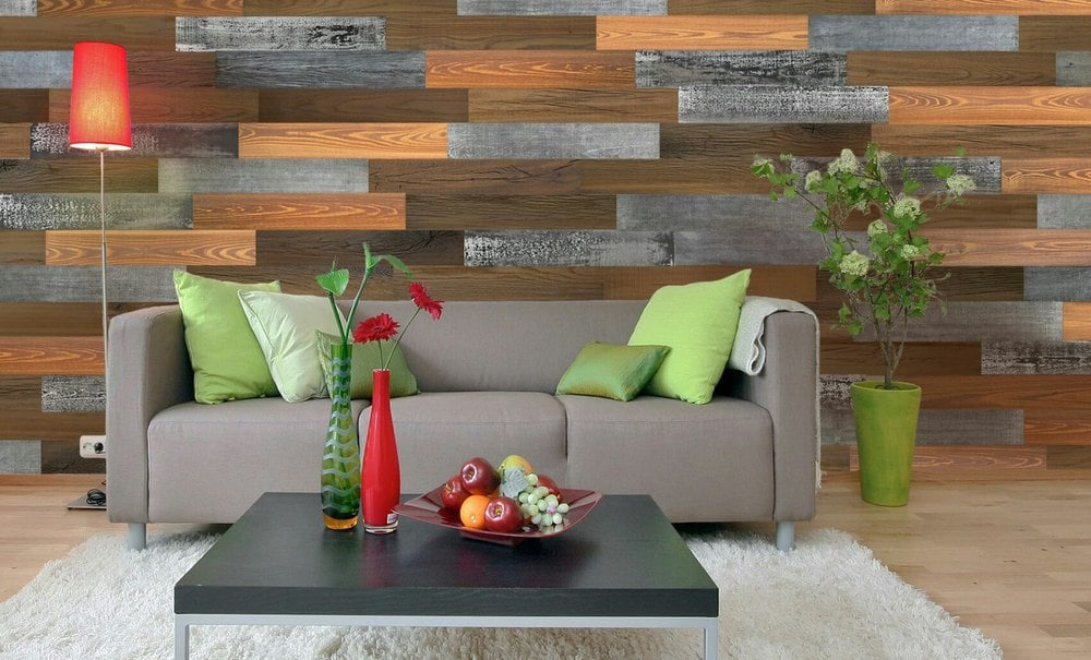 3d Mixed Wood Reclaimed Diy Smart Wall Planks 10 Sf Case