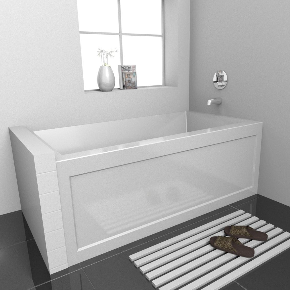 High Gloss Acrylic / Rectangular EQUA 5430 skirted bathtub in high-gloss acrylic 0