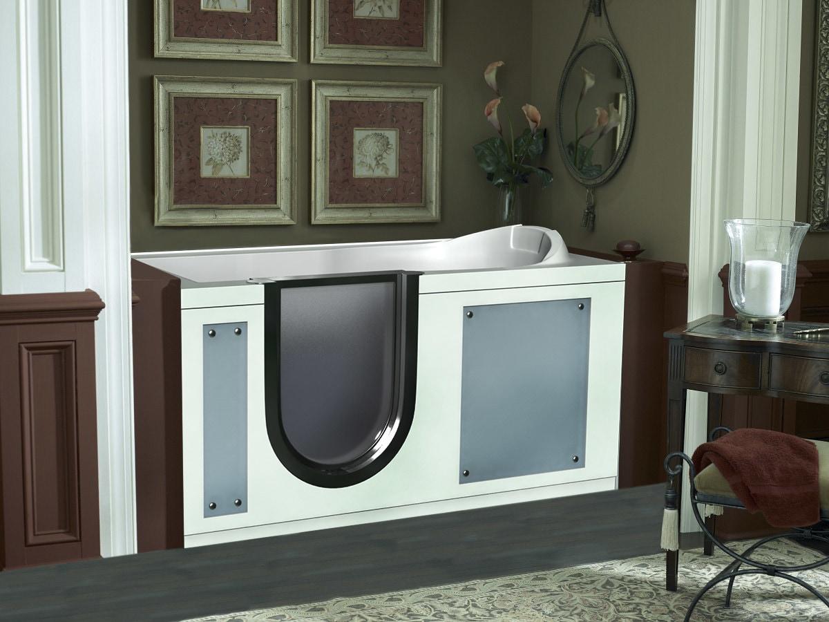 High Gloss Acrylic / Rectangular LIV-3WP Walk-in ADA bathtub made from high gloss acrylic 0