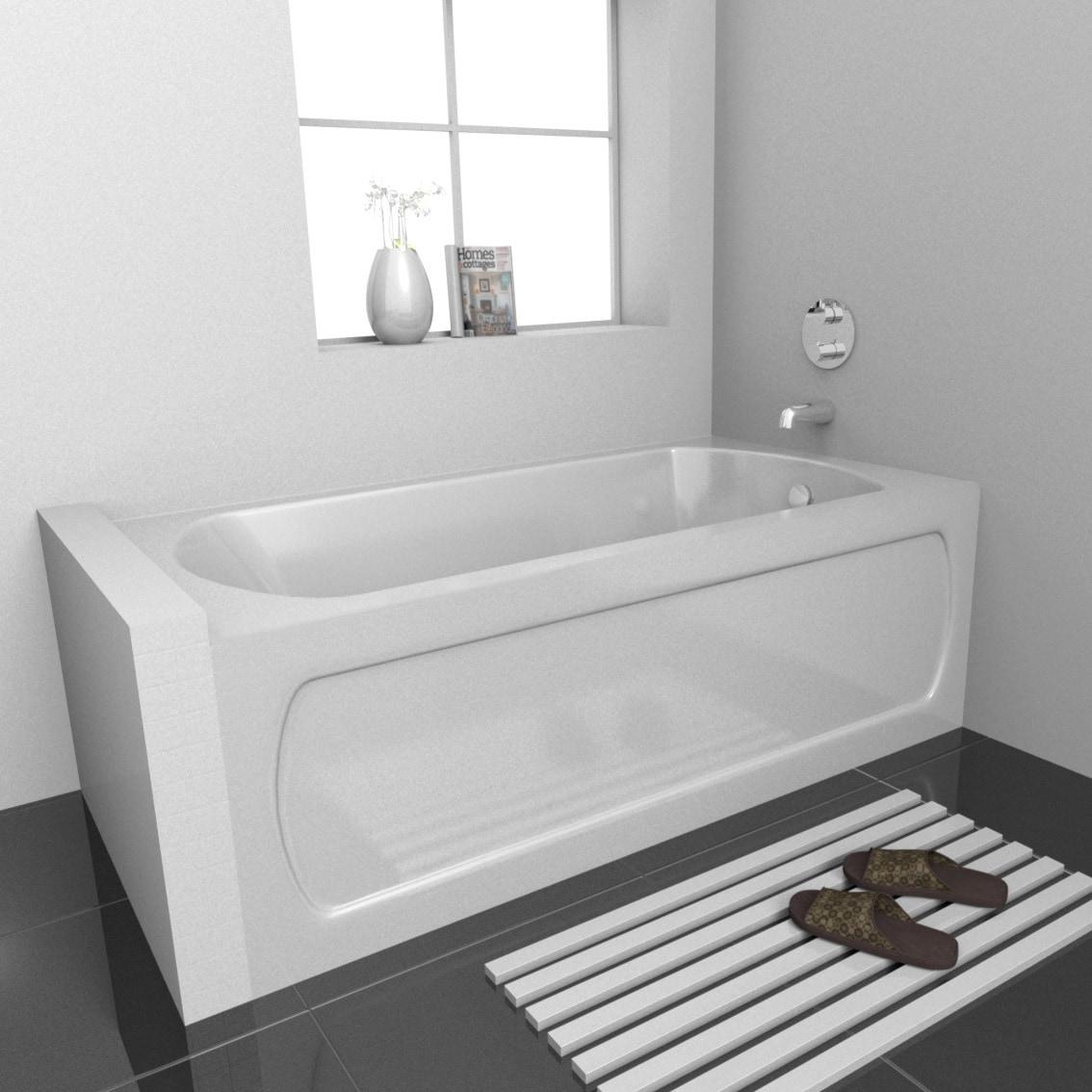 High Gloss Acrylic / Rectangular OSHA 6032 skirted bathtub in high-gloss acrylic 0