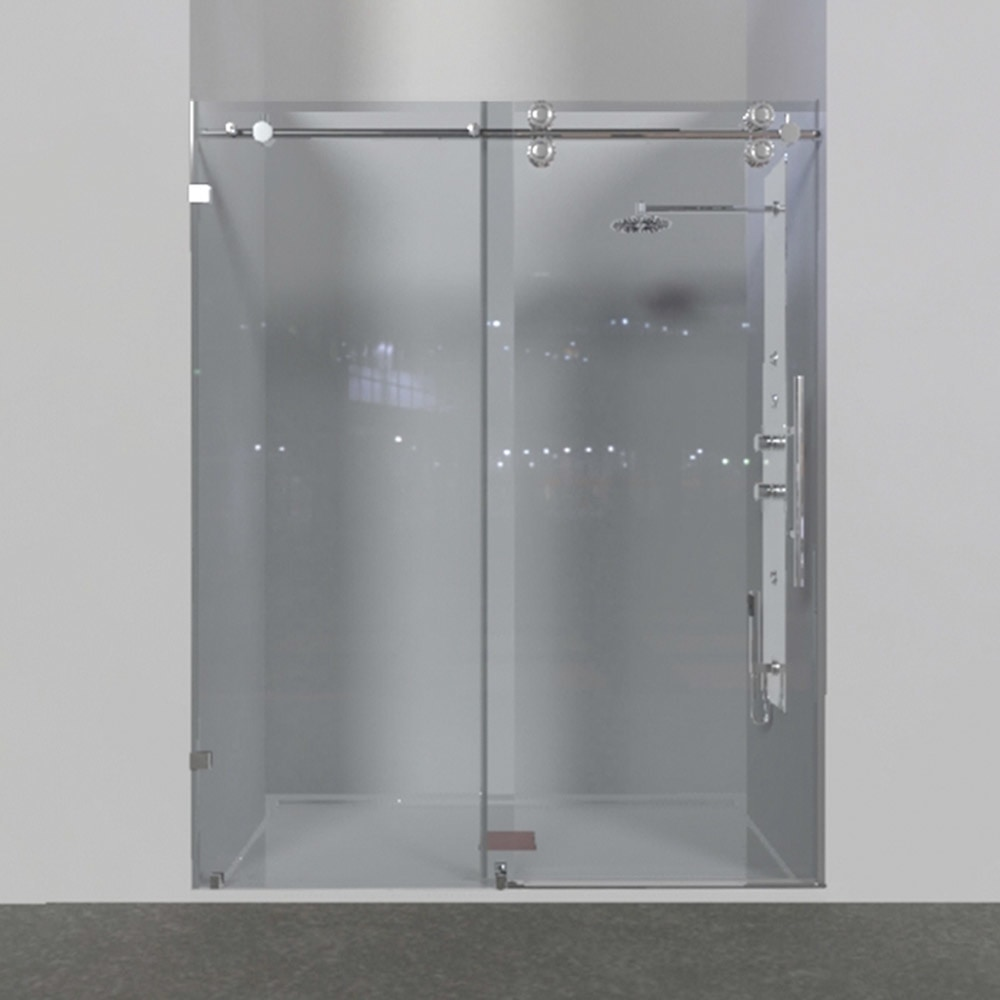 Eurolux Rolling Door And Single Fixed Panel Shower Door