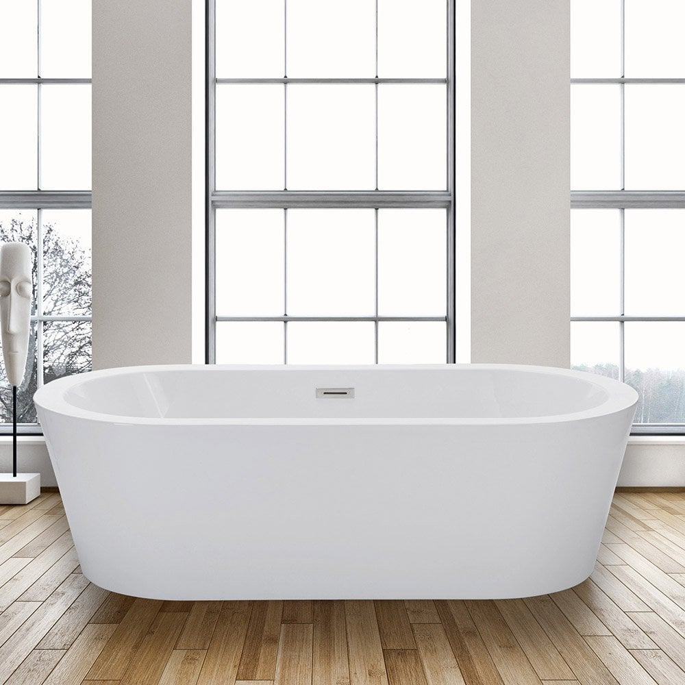 "woodbridgebath woodbridge acrylic "" freestanding bathtub  - bfaabbb"
