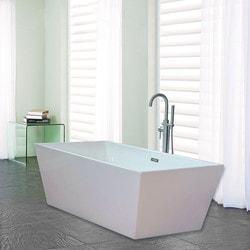 Woodbridge Acrylic 67u201d Freestanding Bathtub Modern Soaking Tub   Freestandi  .