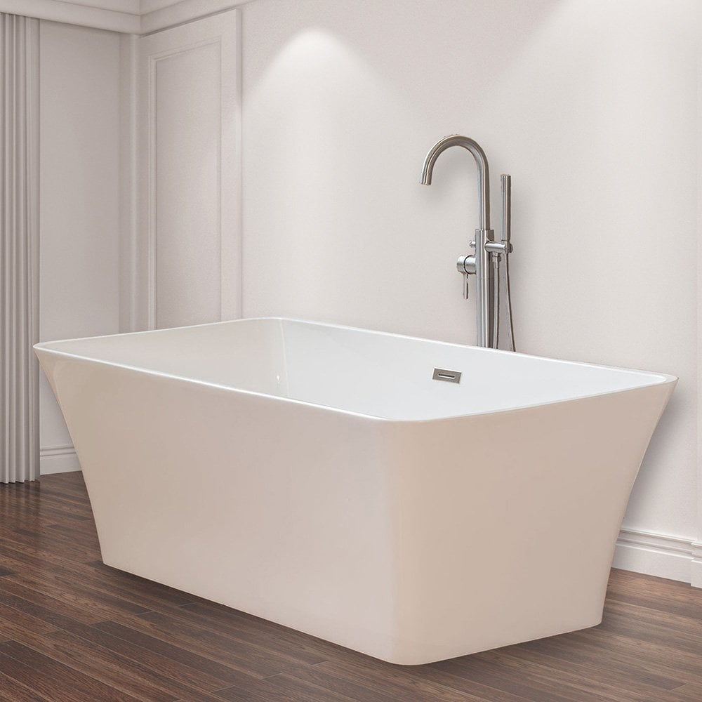 Uncategorized Freestand Bathtub woodbridgebath woodbridge modern bathroom glossy acrylic slipper b4001 58f6a86a741e7