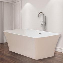 Woodbridge Modern Bathroom Glossy Acrylic Slipper Freestanding Bathtub   Fr  ..