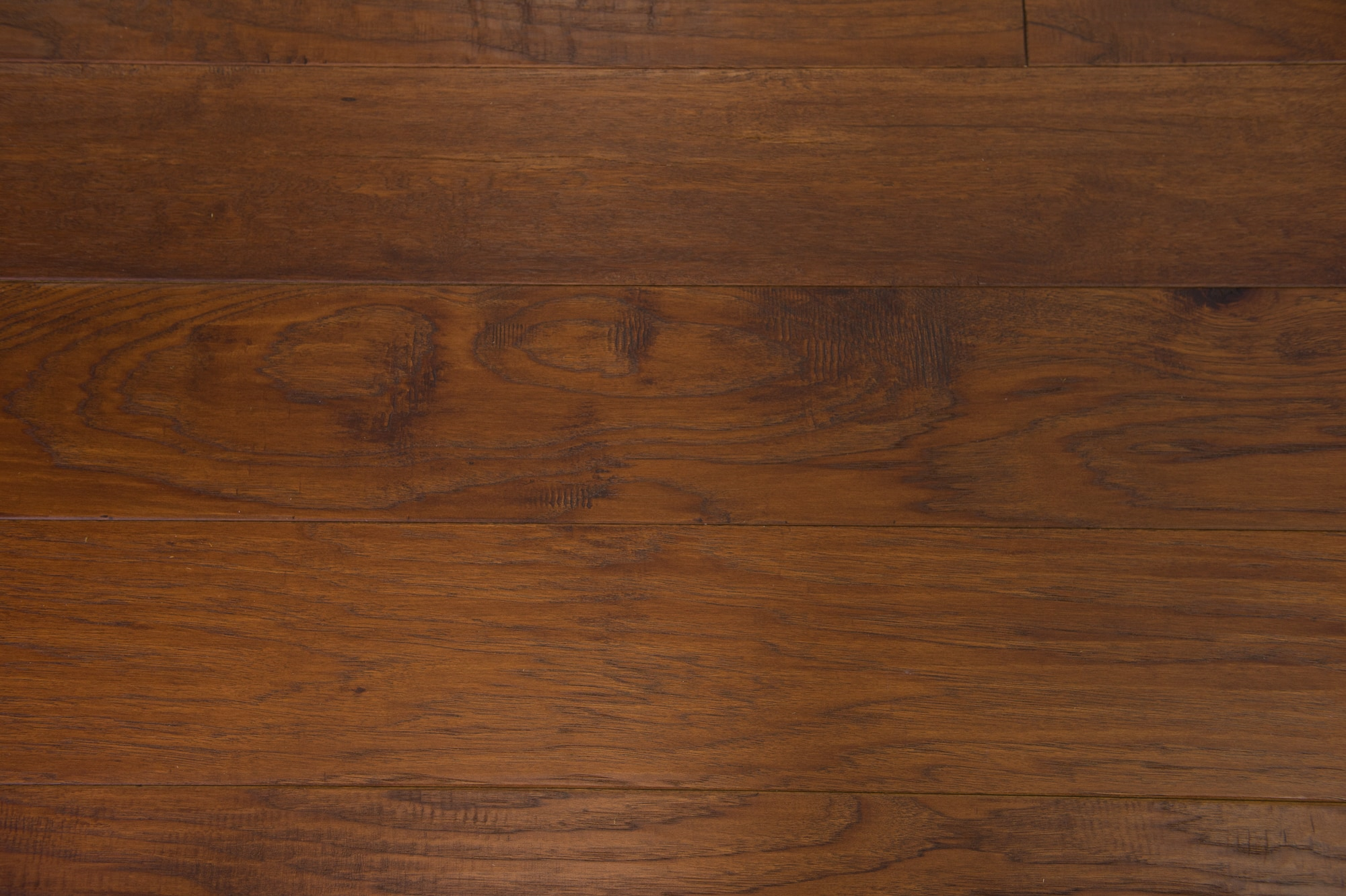 """Chestnut / Hickory / Urethane / Rustic/Character Grade / 1/2"""" x 7-1/2"""" Engineered Hardwood - Hickory - Arapaho Collection 0"""