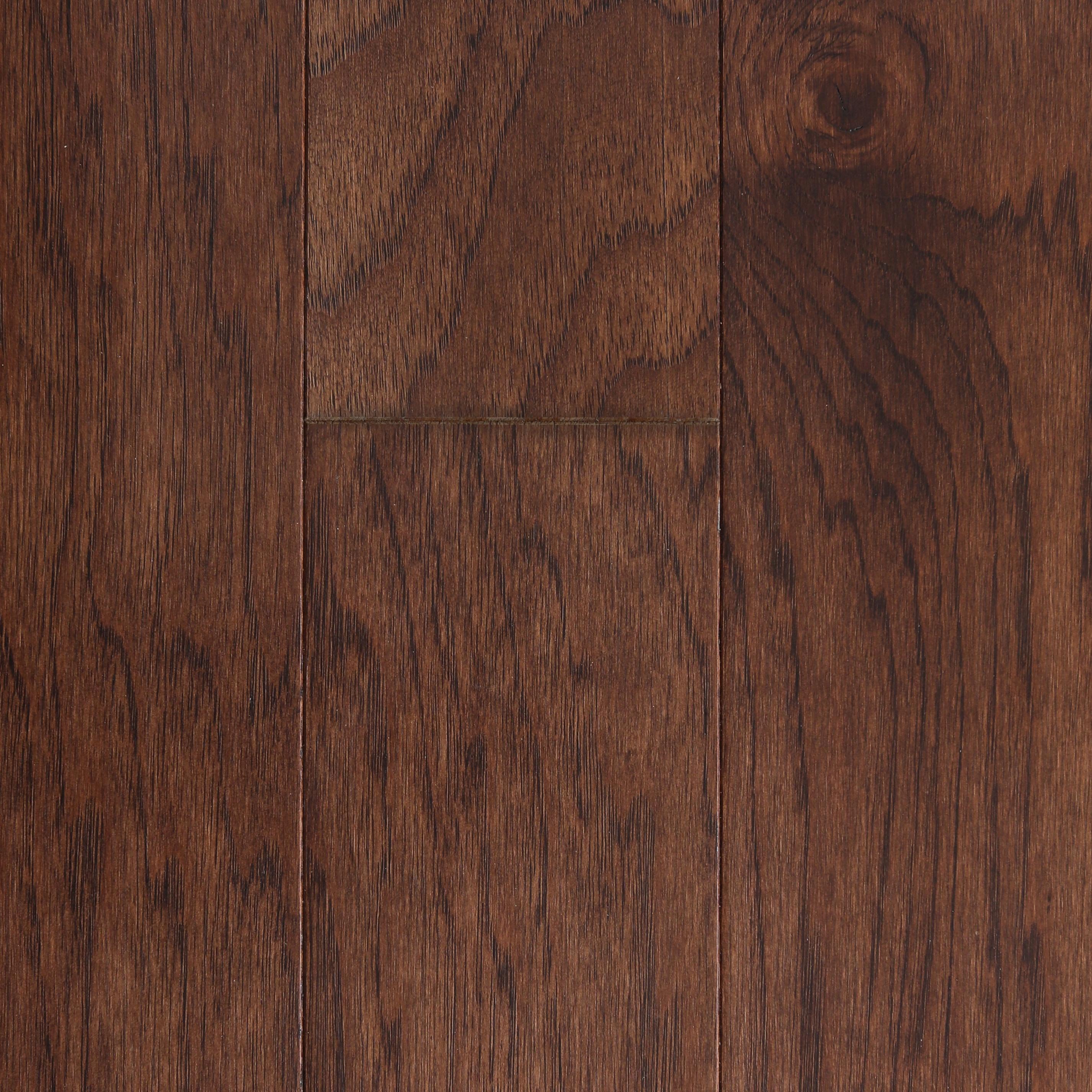 "Chocolate / Hickory / Urethane with AO / Sample Engineered Hardwood - 5"" Hickory - Berkshire Collection 0"
