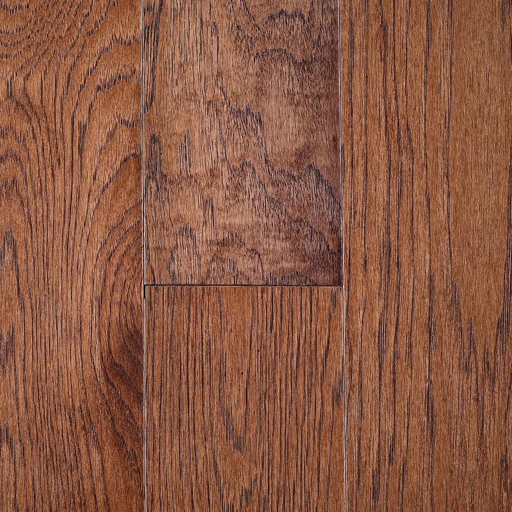 """Granola / Hickory / Sealer = UV Urethene Aluminum Oxide; Topcoat = UV Urethene / #1 / 3/8"""" x 5"""" Great Smoky 5"""" Engineered Hardwood 0"""