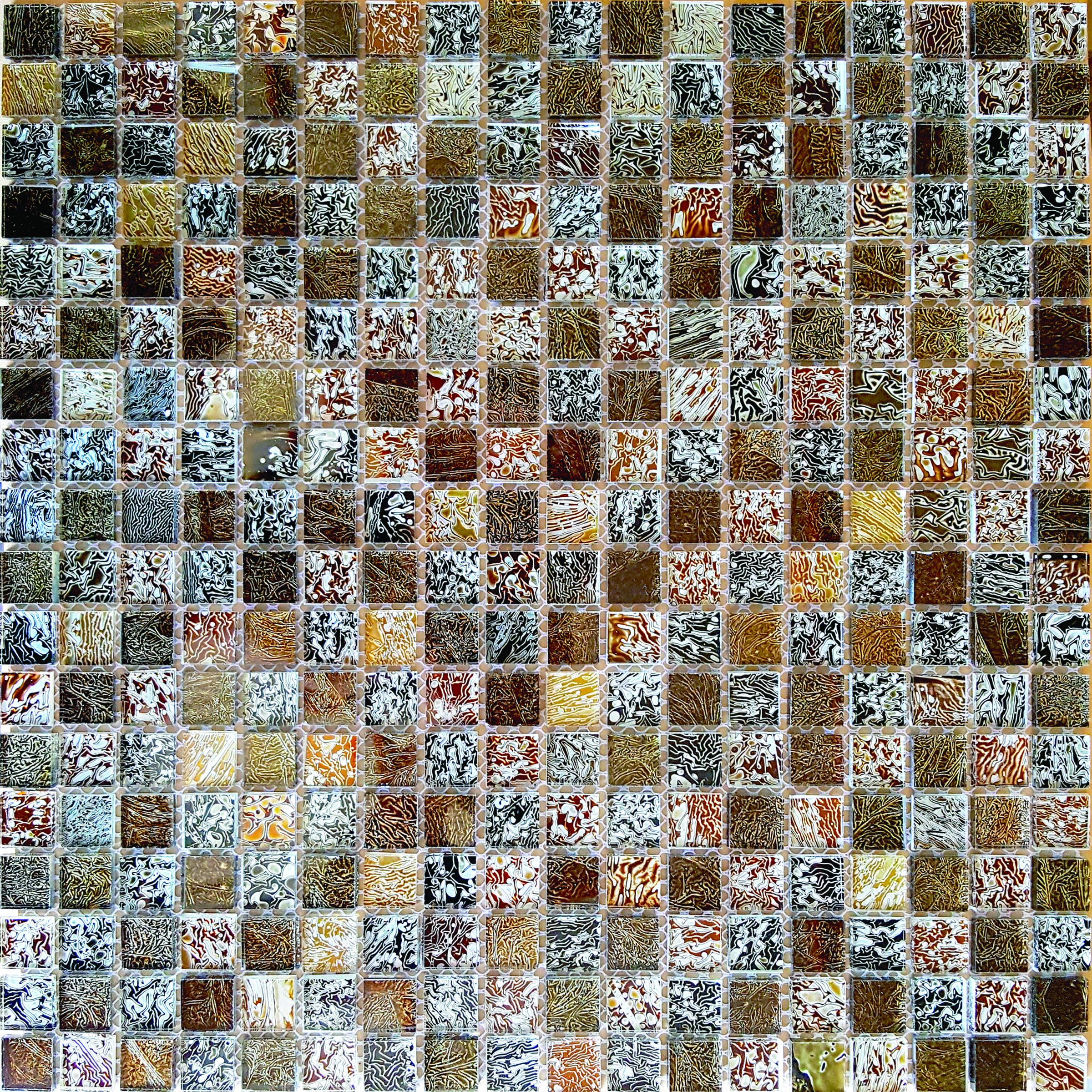 Harvest Micro Folia Glass Mosaic Wall Tile 0