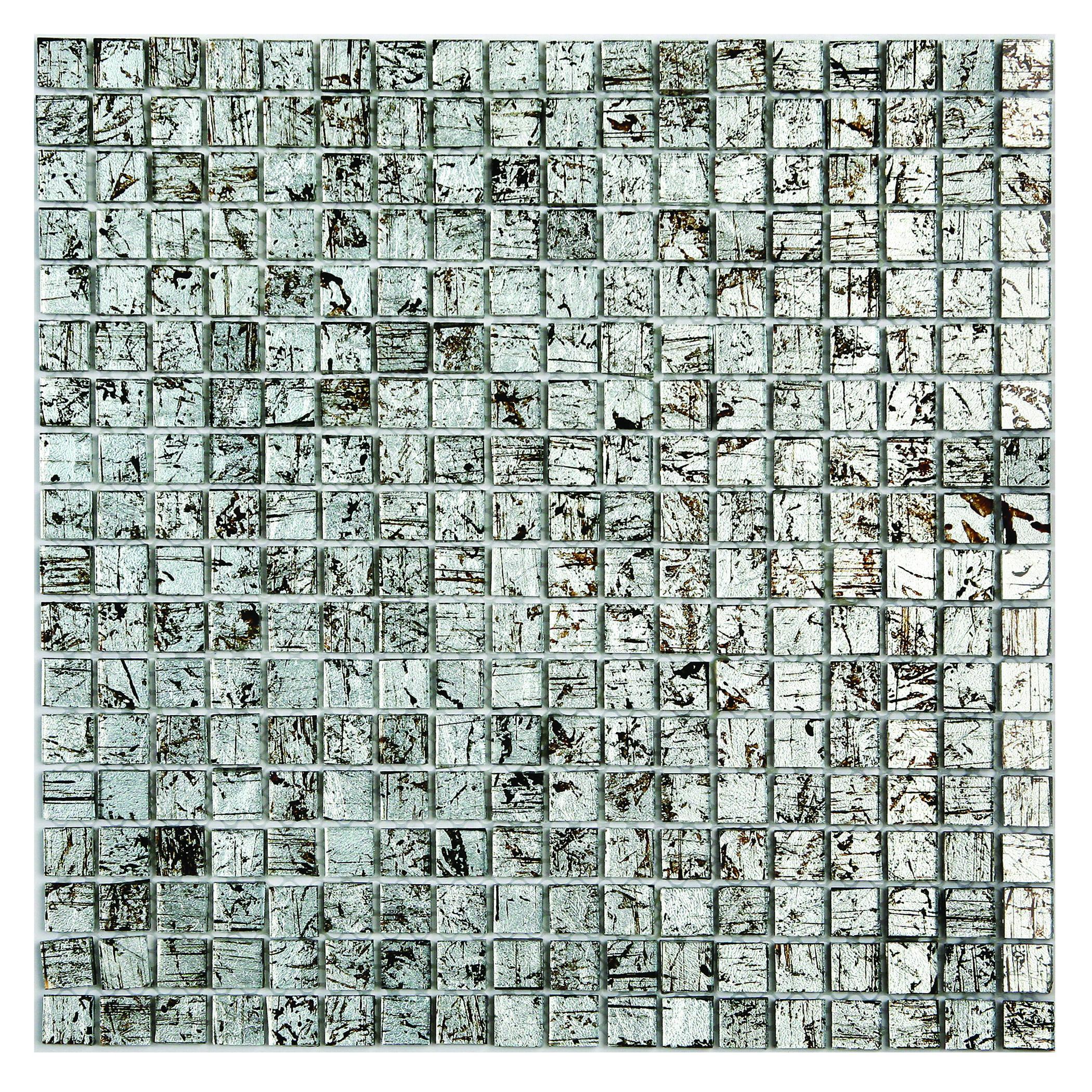 Winter Birch Micro Folia Glass Mosaic Wall Tile 0