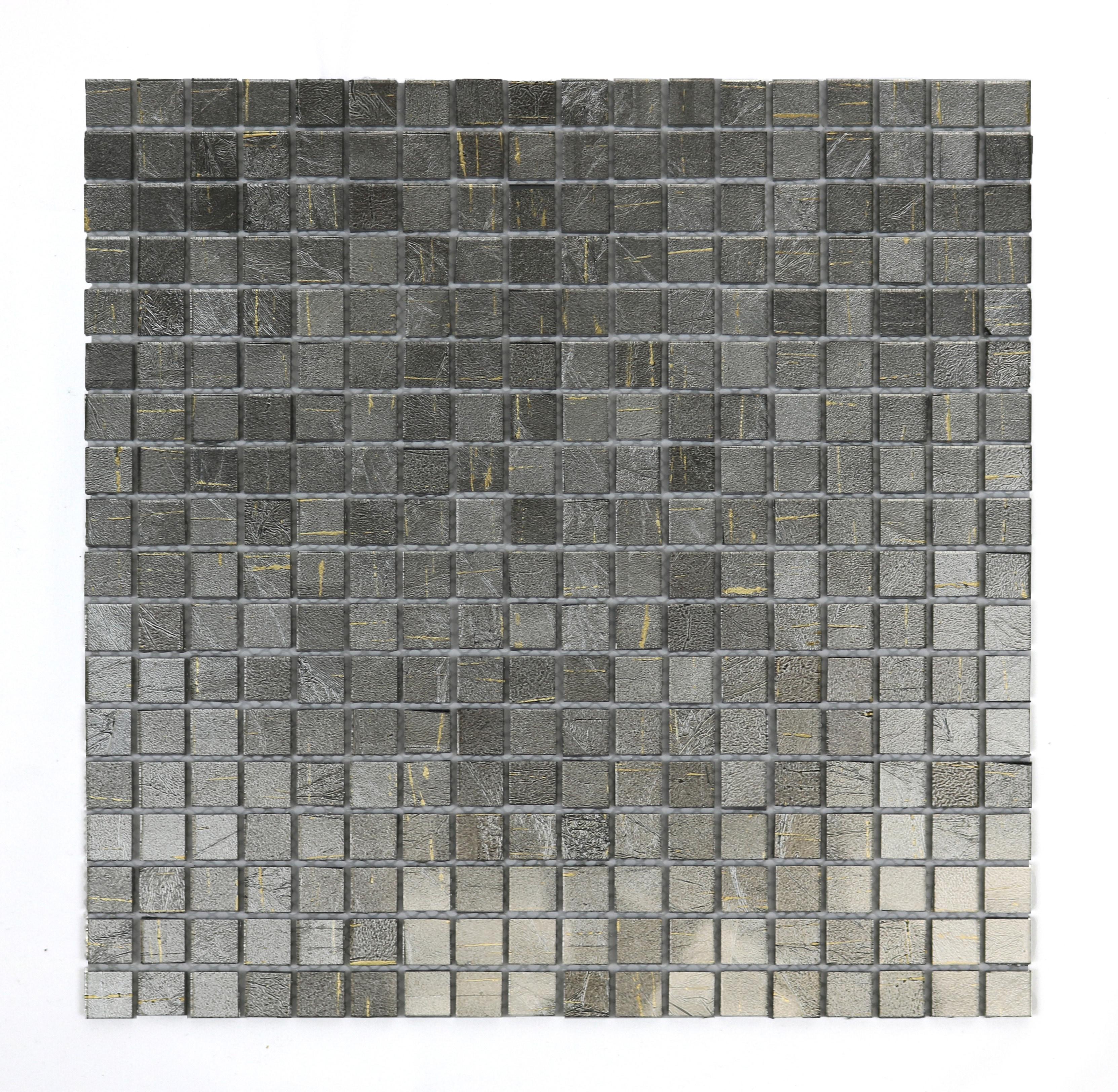 Silver Mound Micro Folia Glass Mosaic Wall Tile 0