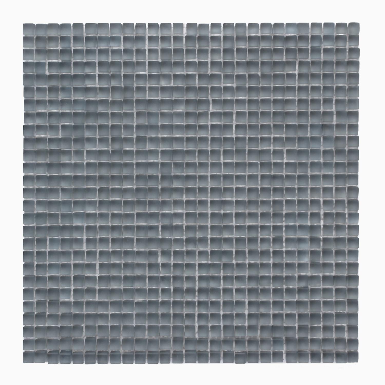 Beluga Dark Frosted Atlantis Glass Mosaic Wall Tile 0