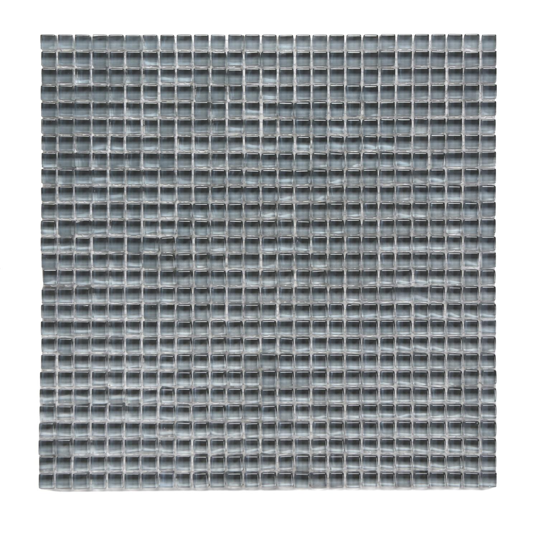 Beluga Dark Polished Atlantis Glass Mosaic Wall Tile 0
