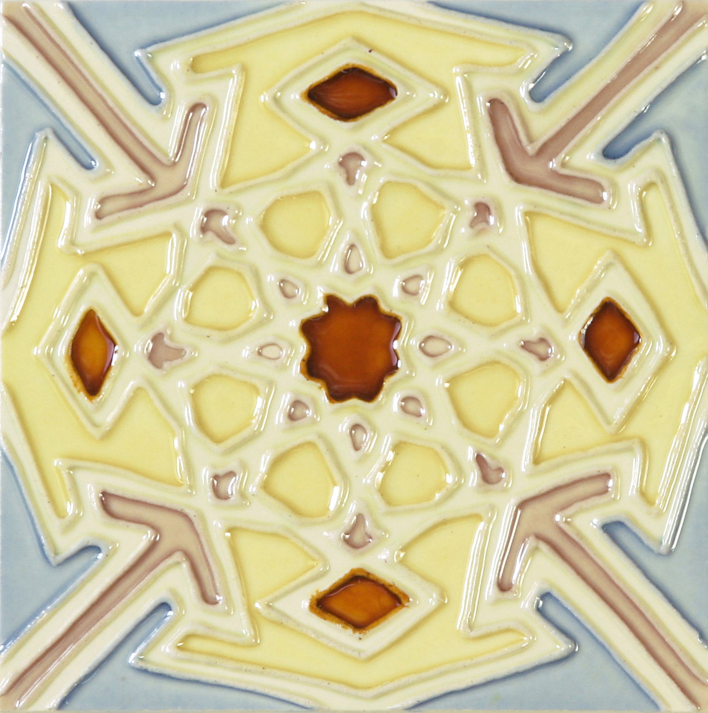 Hand-Painted Ceramic Glazed Wall Tile in Carnaval Hand-Painted Ceramic Glazed Wall Tile in Carnaval 0