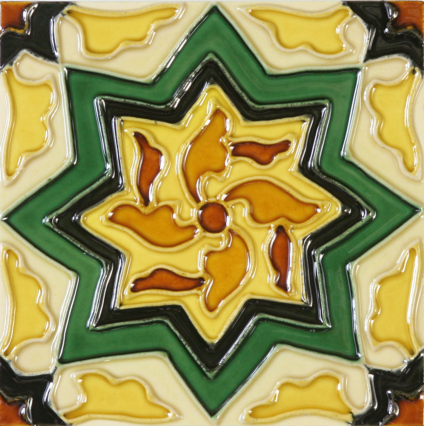 Hand-Painted Ceramic Glazed Wall Tile in Cirino Hand-Painted Ceramic Glazed Wall Tile in Cirino 0