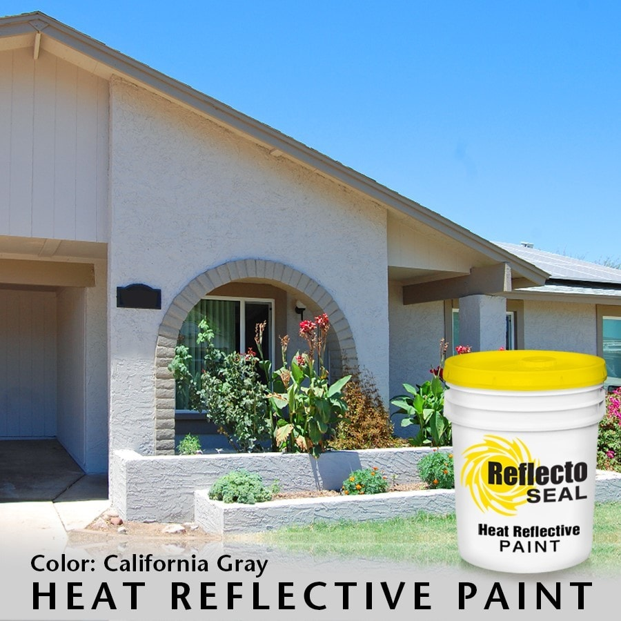 Reflecto seal california heat reflective exterior paint acrylic low sheen 5 gallon - Reflective exterior paint style ...