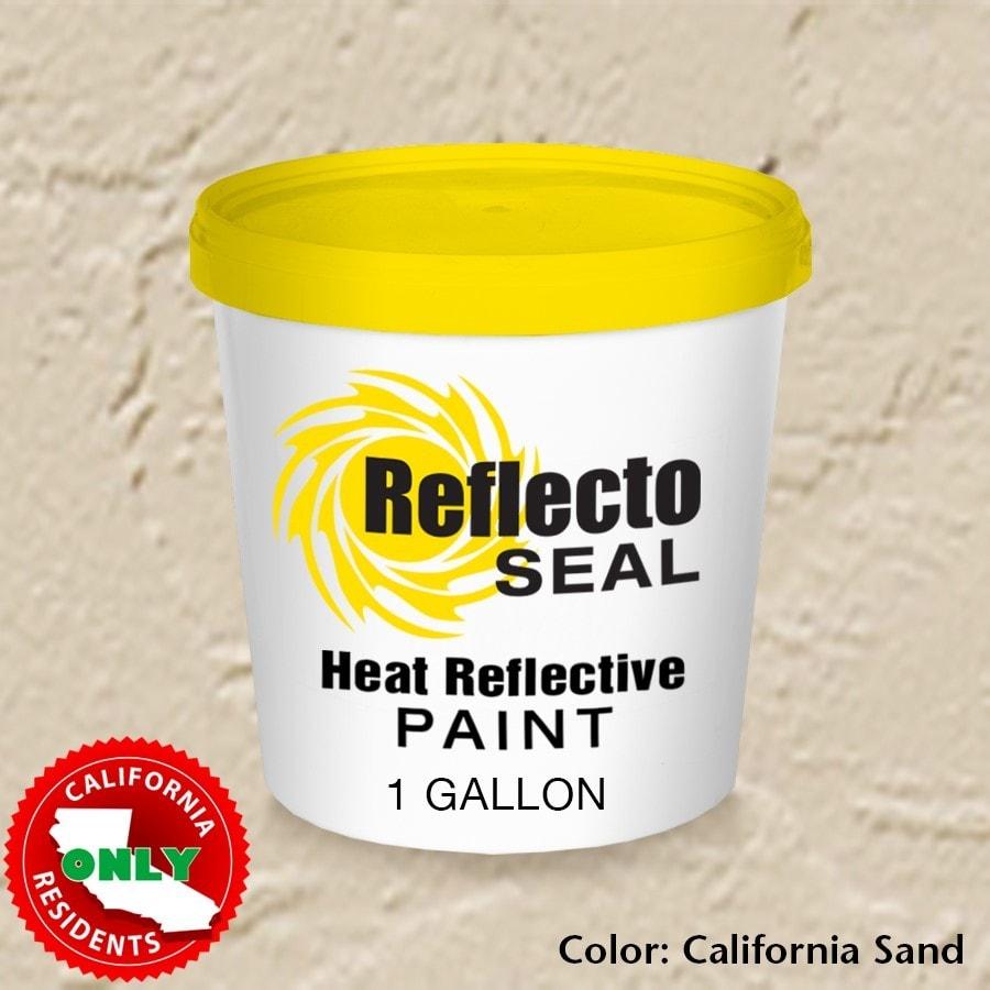 Reflecto Seal California Heat Reflective Exterior Paint Acrylic Low Sheen 1 Gallon