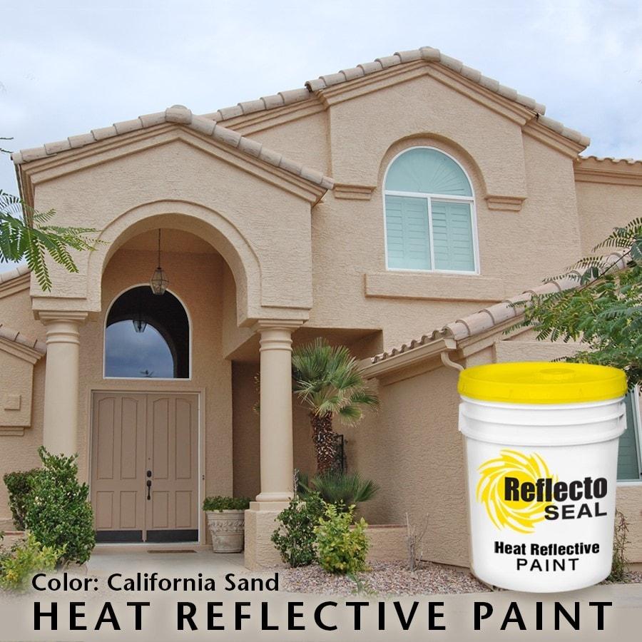 reflecto seal california heat reflective exterior paint acrylic low sheen 5 gallon
