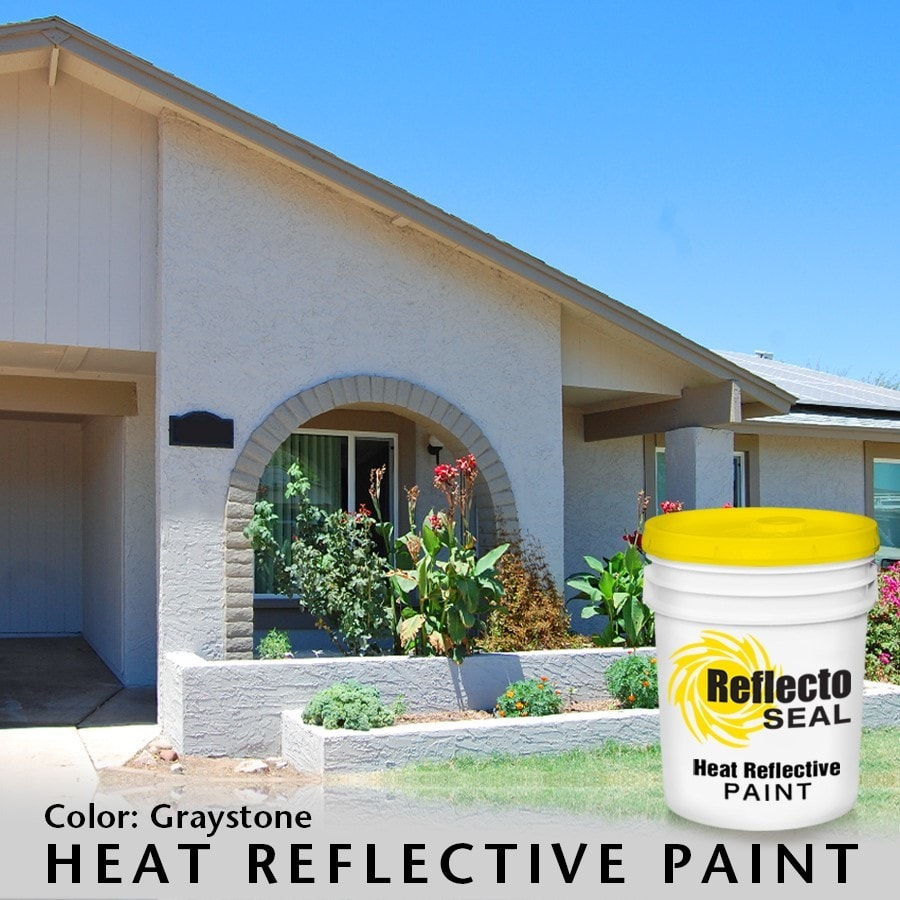 reflecto seal heat reflective exterior paint acrylic low sheen 5 gallon graystone