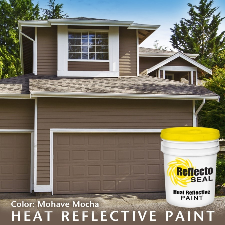 reflecto seal heat reflective exterior paint acrylic low sheen 5 gallon mohave mocha