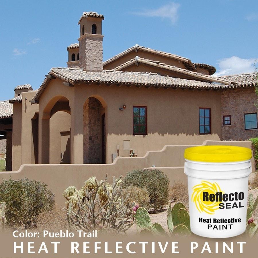 Reflecto Seal Heat Reflective Exterior Paint Acrylic Low Sheen 5 Gallon Pueblo Trail