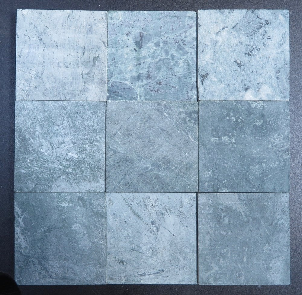 Stone & Tile Shoppe, Inc. Dark Green Marble Tile Dark Green / 4 x 4 ...