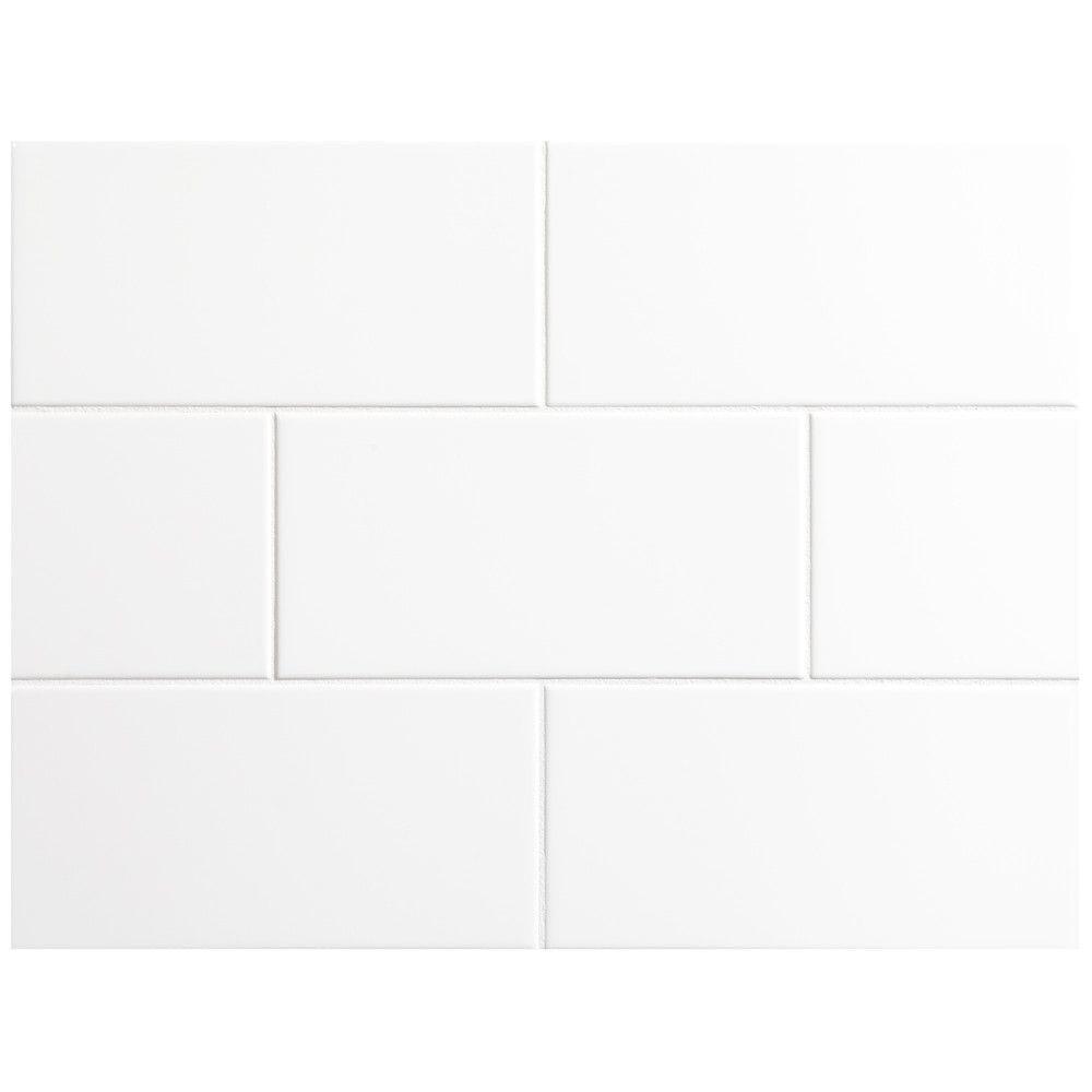 "Ceramic Subway Tile / 4 x 8 x 0.25 inches / Glossy 4"" X 8"" Ceramic Tile In Bright Glossy White 0"