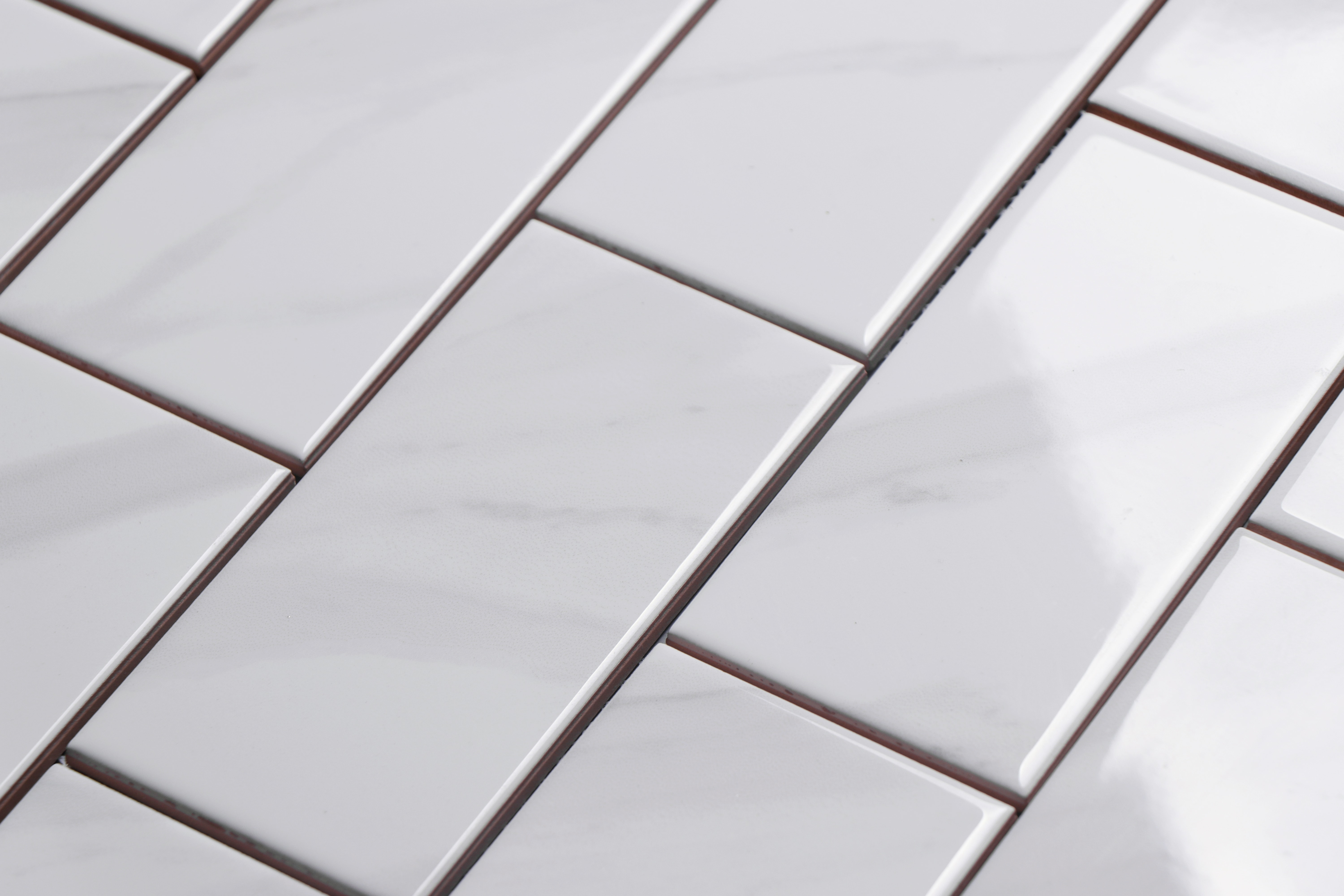 """Ceramic Subway Tile / 3 x 6 x 0.25 inches / Glossy 3"""" X 6"""" Ceramic Tile In Glossy Carrara Effect 0"""