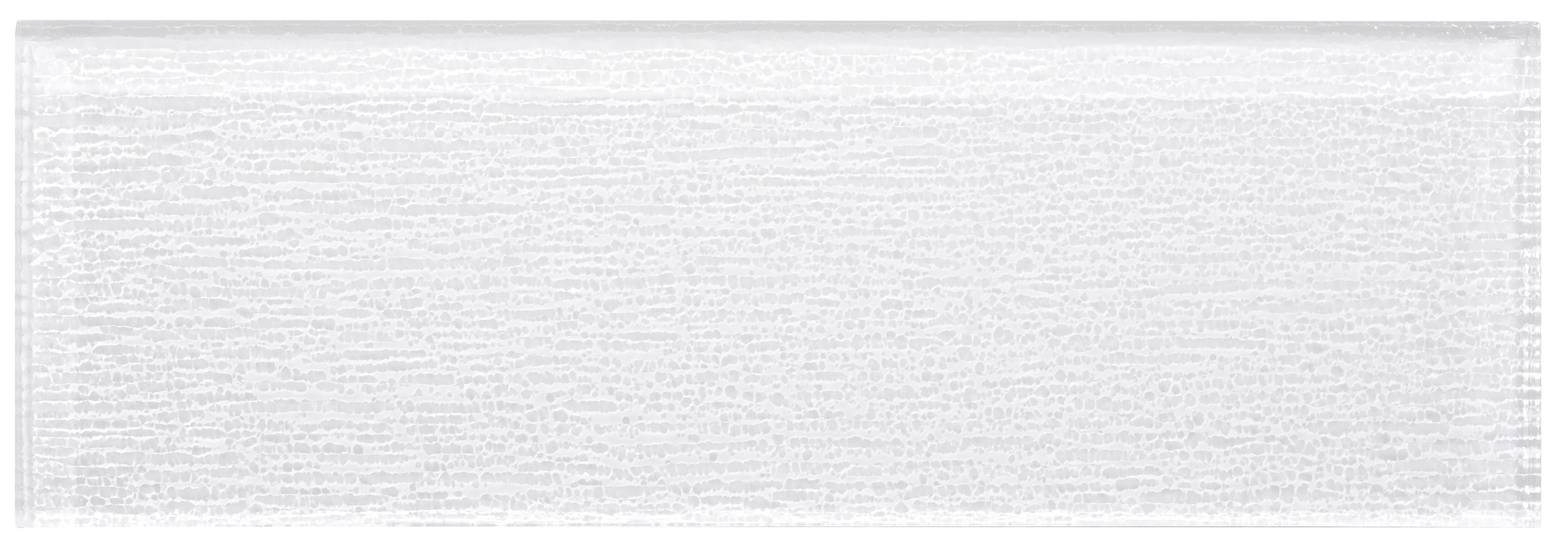 """Glass Subway Tile / 4 x 12 x 0.31 inches / Glossy Textured Individual 4"""" X 12"""" Glass Subway Tile In White 0"""