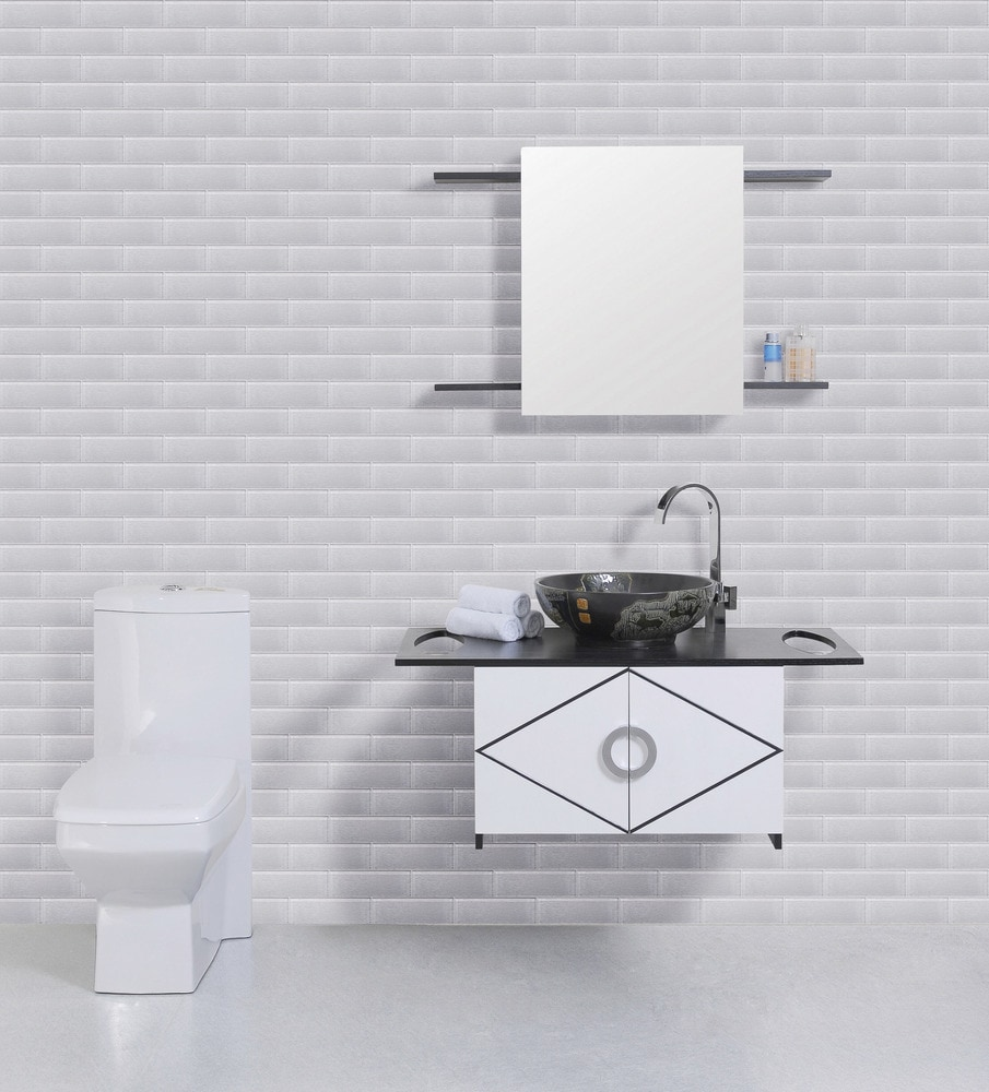 Ws Tiles Textured Individual 4 X 12 Glass Subway Tile In White