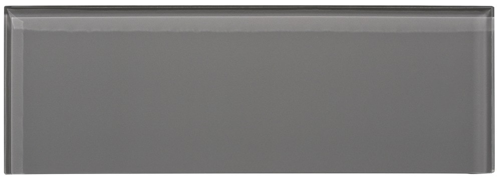 Ws Tiles Individual 4 X 12 Glass Subway Tile In Dark Gray Glass