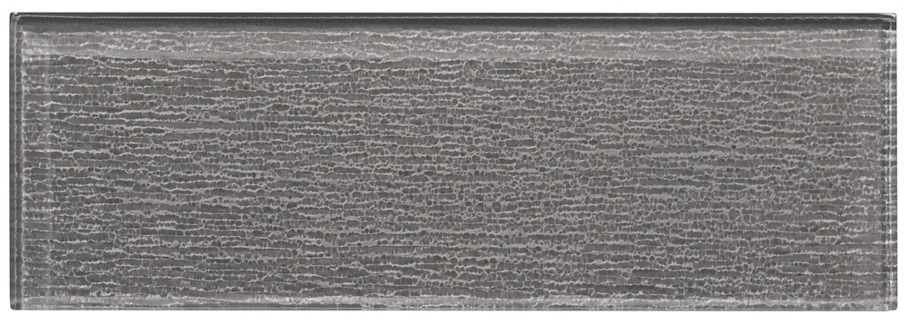 Ws Tiles Textured Individual 4 X 12 Glass Subway Tile In Dark Gray