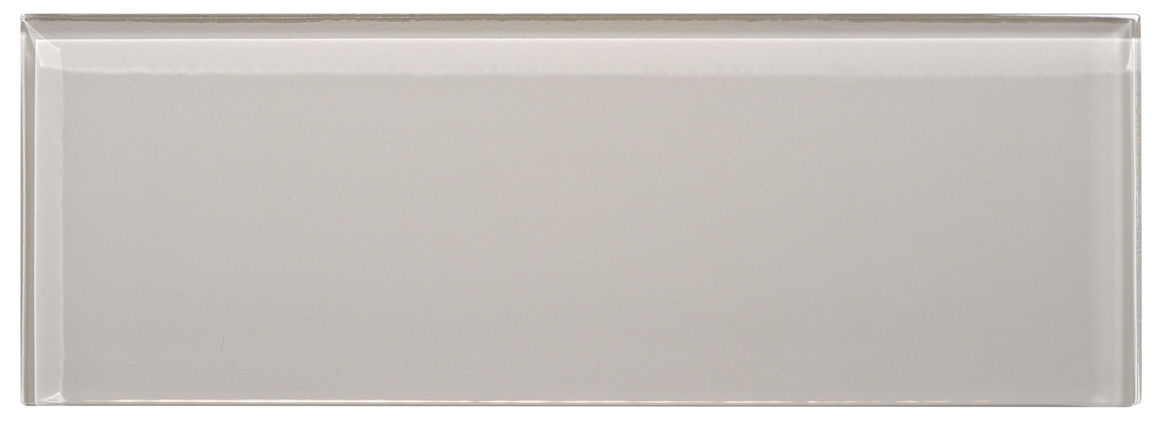 """Glass Subway Tile / 4 x 12 x 0.31 inches / Glossy Individual 4"""" X 12"""" Glass Subway Tile In Icy Gray 0"""