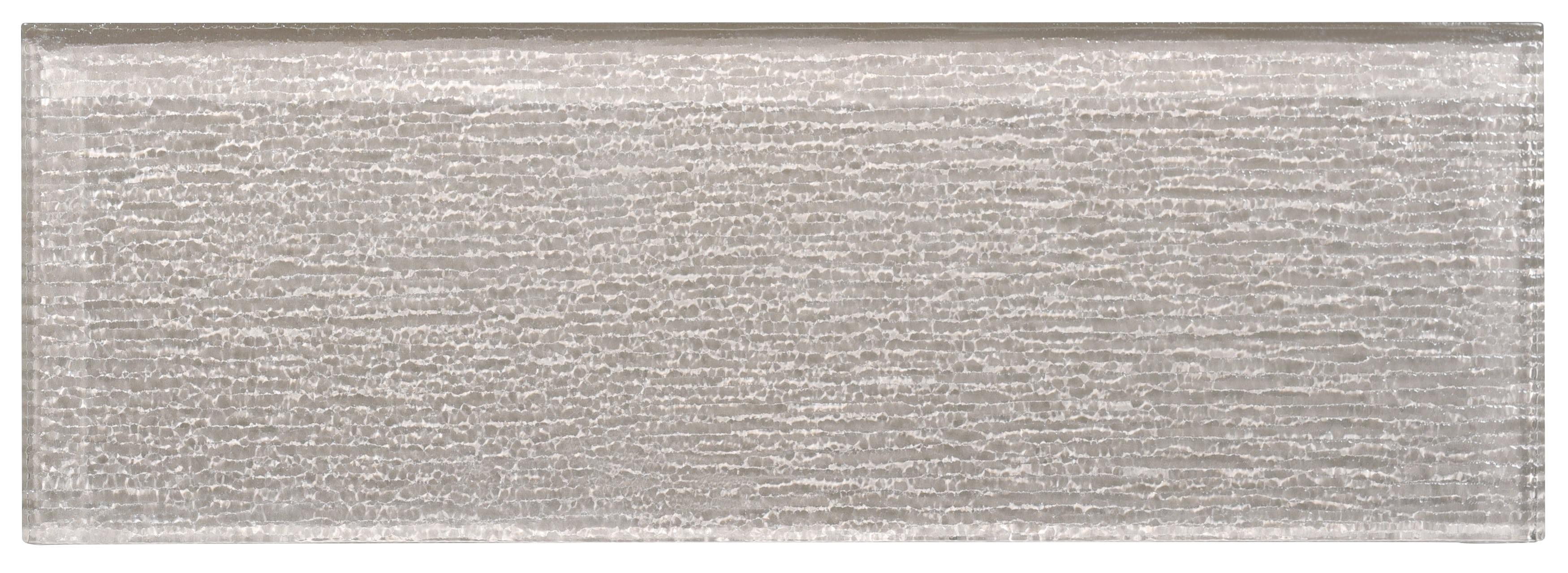 """Glass Subway Tile / 4 x 12 x 0.31 inches / Glossy Textured Individual 4"""" X 12"""" Glass Subway Tile In Icy Gray 0"""