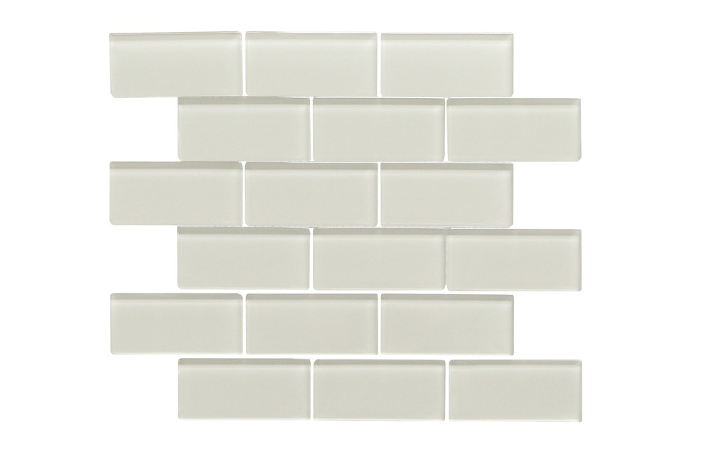 Ws Tiles 2 X 4 Glass Subway Mosaic Tile In Icy Gray Glass Mosaic