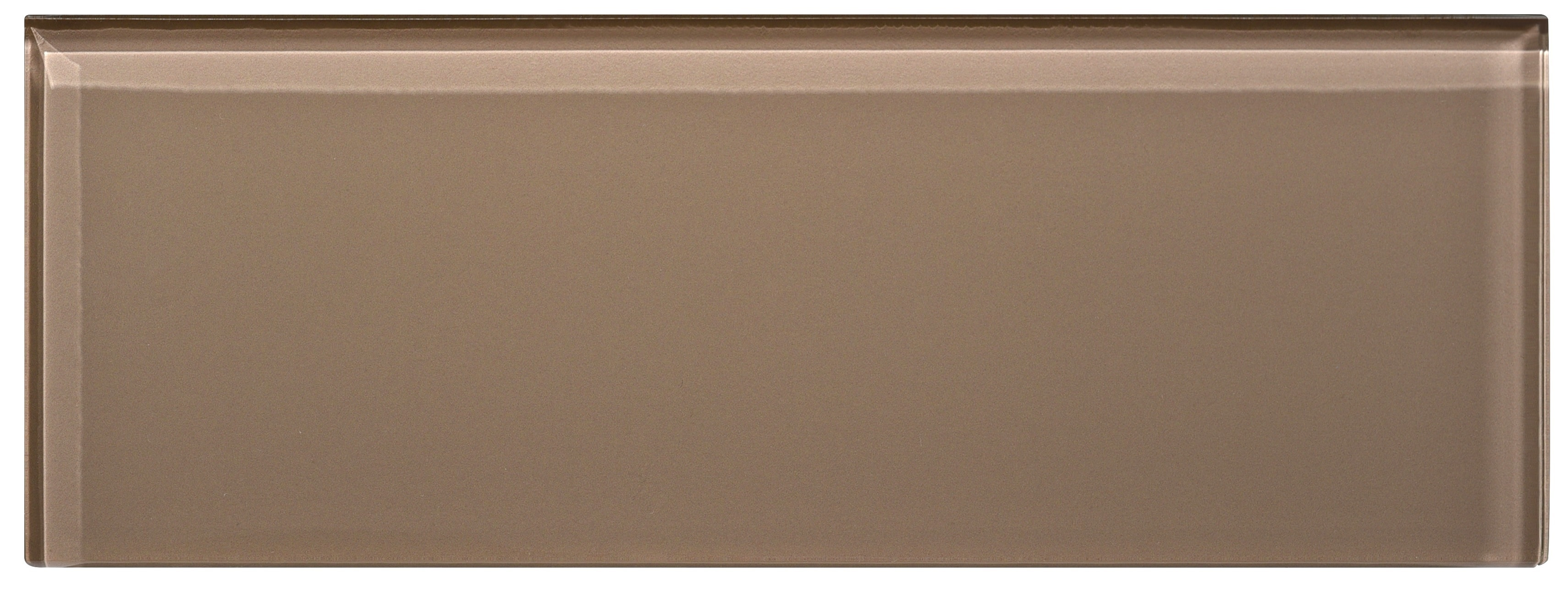 """Glass Subway Tile / 4 x 12 x 0.31 inches / Glossy Individual 4"""" X 12"""" Glass Subway Tile In Beige 0"""