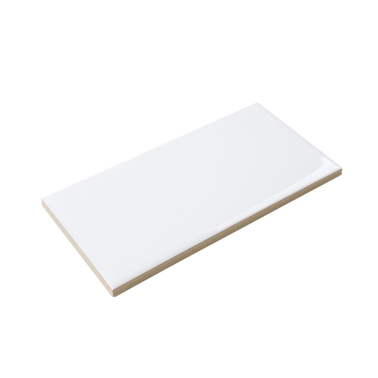 "Ceramic Subway Tile / 3 x 6 x 0.25 inches / Glossy 3"" x 6"" Ceramic Tile in Bright White 0"