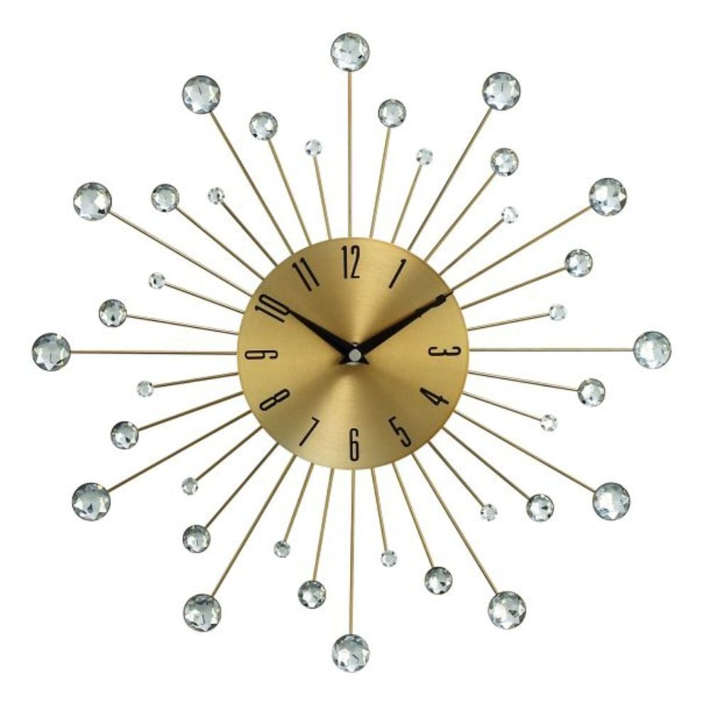 benzara metal gold wall clock 15
