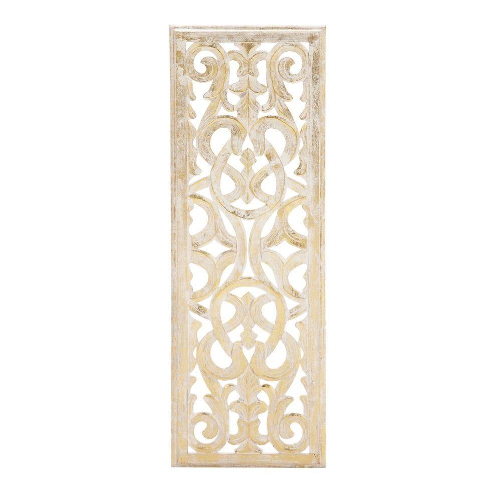 benzara attractive wall panel golden
