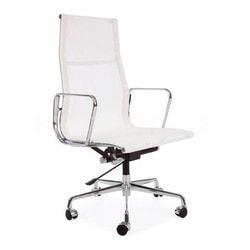 Nicer Furniture - Modern Style Modern High back Mesh Chair  High Back White