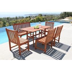 6piece outdoor hardwood dining set a brown
