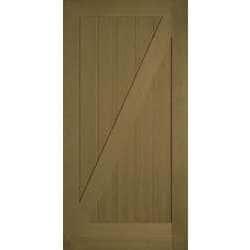 American Door Company 42\  x 84 \  VG Fir 1-Panel Z-Bar Barn Door with Silver Hardware  sc 1 st  BuildDirect & American Door Company 42\