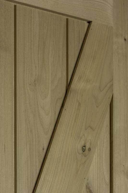 American Door Company 48 X 84 Knotty Alder 1 Panel Z Bar Barn