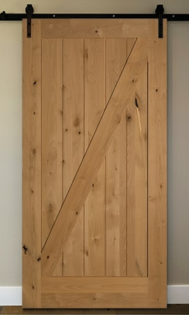 American door company 42 x 84 knotty alder 1 panel z for The barn door company