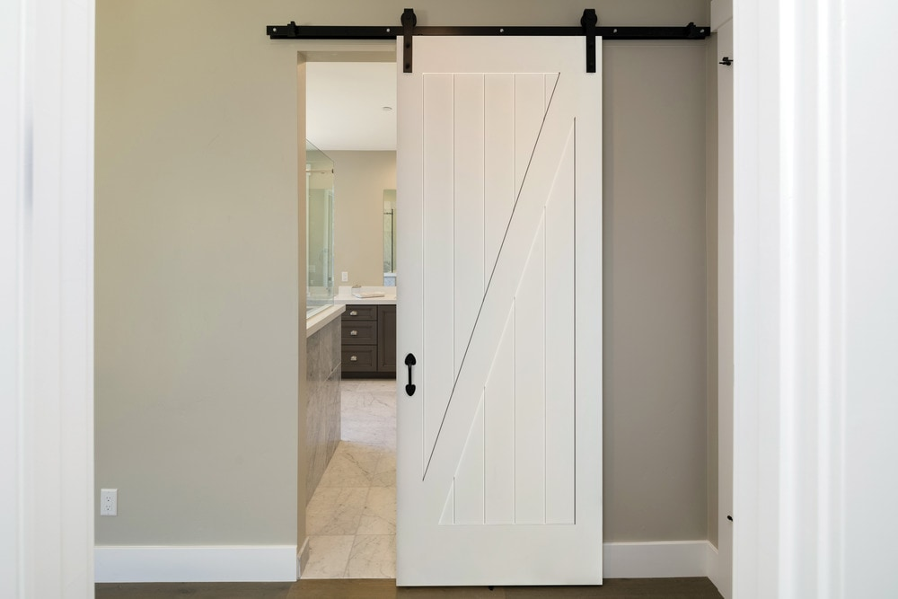 American door company 42 x 84 primed 1 panel z bar barn for The barn door company