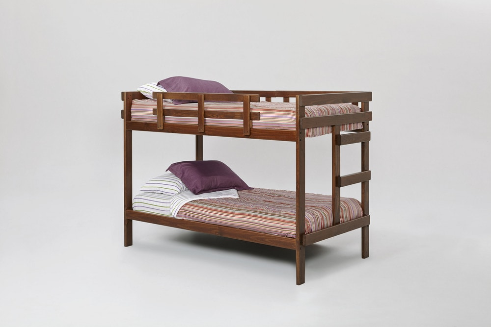 Woodcrest Heartland 2x4 Bunk Bed with Slats Chocolate / X2400 SL